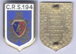 Insigne De La Compagnie Républicaine De Sécurité N° 194 - Bougie - Police & Gendarmerie
