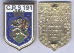 Insigne De La Compagnie Républicaine De Sécurité N° 191 - Alger - Police & Gendarmerie