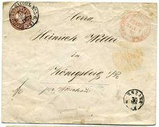 "Russia 1870 Railway VAN 5-6 (4) Warszawa- Vilna To Konigsberg ""FRANCO"" Postmark - Covers & Documents"