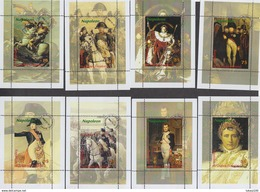 NAPOLEON - PICTURES OF THE BEST ARTISTS     GUINEA ECUATORIAL  8 Sheets (used) - Napoleon