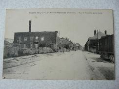 CPA4 - Carte Postale Ancienne Guerre 14-18 Le Chesne Populeux Rue De Vouziers Partie Haute - Le Chesne