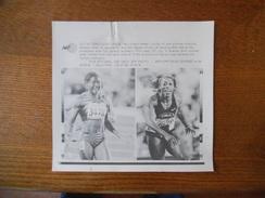 ATLANTA 28/7/96 MERLENE OTTEY OF JAMAICA AND GAIL DEVERS OF USA 100m AFP PHOTO PAPIER 18cm/12cm - Leichtathletik