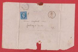 Plis / De Nantes  / Pour Fontenay Le Comte / 14 Juillet 1860 - Postmark Collection (Covers)