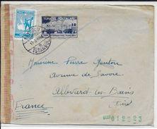 TURQUIE - 1944 - ENVELOPPE De BEYOGLU Avec CENSURE =>  ALLEVARD LES BAINS (ISERE) - 1921-... Republic
