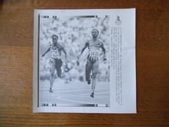 ATLANTA 26/7/96 MERLENE OTTEY HEATHER SAMUEL 100m AFP PHOTO PAPIER 18cm/12cm - Athlétisme