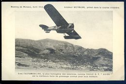 Cpa Aviation -- Aviateur Weymann Meeting De Monaco En 1913 Publicité Automobiline Huile Avion   SEP17-51 - Airmen, Fliers