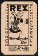 A8528 - Rex - Metallputz - Enameline Werke Frankfurt A. M. TOP - Reklame