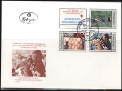 Makedonija Macedonia MK 001 First Day Cover Zwangszuschlags Red Cross 1994 - Macedonia