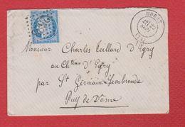 Enveloppe / De Murat /  Pour Saint Germain   / 22 Septembre 1872 - Storia Postale