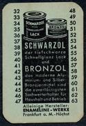A8530 - Schwarzol Bronzol Enameline Werke Frankfurt A. M. Putzmittel TOP - Reklame