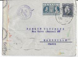 GRECE - 1941 - RARE ENVELOPPE ENTIER Avec CENSURES GRECQUE + ALLEMANDE De ATHENES => MARSEILLE - Postal Stationery