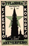 1postcard  PUB  Esperanto Kongreso Pentekosto Antverpeno Antwerpen 1930  Keuterickx Borgerhout Gravinstraat - Perfecto - Tourism Brochures