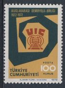 Turkey Turquie Turkei 1972 Mi 2278 YT 2048 Sc 1920 - 50th Ann. Int. Railway Union / 50 Jahre Int. Eisenbahnverband - Treinen