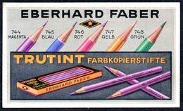 A8535 - Eberhard Faber - Trutint Farbkopierstifte - Werbung Reklame - Reklame