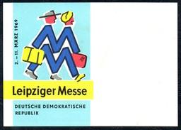 A8536 - Leipzig Messe - Leipziger Messe 1969 - Werbung Reklame DDR - Reklame