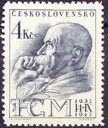 Tschechoslowakei CSSR - 10. Todestag Von Masaryk (MiNr. 524) 1947 - Postfrisch MNH - Tchécoslovaquie