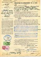 """Timbre Fiscal De """"Dimension"""" N° 152 Sur Document - Fiscaux"""