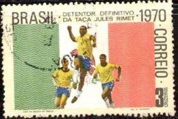 Mexican Flag & Soccer, 9th World Soccer Championships, 1970, Brazil Stamp SC#1169 Used - Brésil