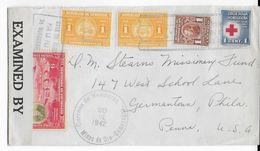 HONDURAS - 1942 - ENVELOPPE De La MINE D'OR De COMAYAGUA Avec CENSURE =>  PHILADELPHIA (USA) - Honduras