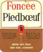 1520 - Belgique - Biêre Foncée Piedboeuf - Etiquette Ancienne - - Bière