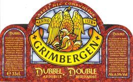 1521 - Belgique - Grimbergen - Dubbel Abdijbier - Double Bière D'Abbaye - Etiquette Ancienne - - Bière