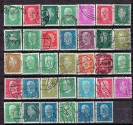 """Allemagne Lot De Plus De 30 Timbres (o) """"Présidents"""" 1928/32 YT N° 301 Et Ss. - Used Stamps"""