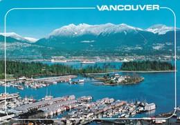Postcard Vancouver Coal Harbour Burrard Inlet PU 1994 My Ref B22028 - Vancouver