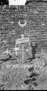 Guerre 14-18 CIMETIERRE MILITAIRE TOMBE MUSULMANE Négatif Pris Par Militaire Escadrille VB 110  MONTDIDIER 1915 - 1914-18