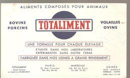 Buvard TOTALIMENT Aliments Composés Pour Animaux Bovins Porcins Volailles Ovins - Animaux