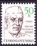 Tschechoslowakei CSSR - Jawaharlal Nehru (MiNr. 2992) 1989 - Postfrisch MNH - Tchécoslovaquie