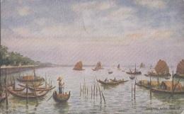 Singapour - Singapore - Native Harbour - Bâteaux Pêche - Tuck - Postmarked 1924 - Singapour