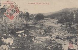 Laos - Village Thaï-Dam (Hua Pahn) - 1911 - Laos