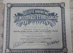 EGYPT - Societe Anonyme De NETTOYAGE ET PRESSAGE DE COTON - 1923 - Afrika