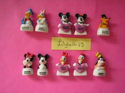 Série Complète De 10 Feves Disney En Porcelaine - BUSTES MICKEY ET COMPAGNIE - 2014 ( Feve ) - Disney