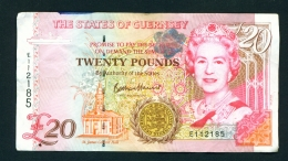 GUERNSEY  -  1995 To 2015  £20  Signature B Haines  Circulated Banknote  Condition And Serial Number As Scans - Guernsey