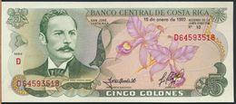 °°° COSTA RICA - 5 COLONES 1992 FDS °°° - Costa Rica