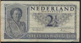 °°° NETHERLANDS - 2 1/2 GULDEN 1949 °°° - 2 1/2 Gulden