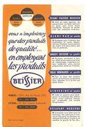 Buvard BEISSIER Vous N'emploierez Que Des Des Produits De Qualité... En Employant Les Produits BEISSIER - Paints