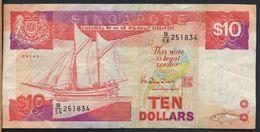 °°° SINGAPORE - 10 $ DOLLARS °°° - Singapore