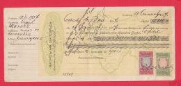8K48 / 1937 Promissory Note  - Macedonia Macedoine Mazedonien  NATIONAL Bank Revenue Fiscaux Bulgaria Bulgarie - Bills Of Exchange