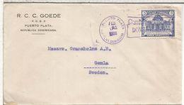 REPUBLICA DOMINICANA 1928 CC CON MAT TEMA TABACO TOBACCO - Tabaco