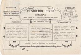 FATTURA COMMERCIALE - CON MARCA DA BOLLO DA CENT. 10 - DESIDERIO ROSSI, FABBRICA D' OMBRELLI STACCI E TAMBURELLI. - Italia