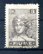 1919 FIUME N.33 USATO - 8. Occupazione 1a Guerra
