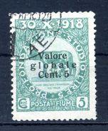 1919 FIUME N.88 USATO - 8. Occupazione 1a Guerra