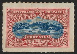 NEW HEBRIDES: 1897 Local Inter-Island Post 2d (see Robson Lowe), VF LMM - New Hebrides