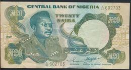 °°° NIGERIA - 20 NAIRA 2001 °°° - Nigeria