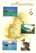 CP Maurice - Paysage, Mer, Dodo, Carte Géographique - Mauritius