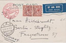 GRANDE-BRETAGNE 1934 PLI AERIEN DE SOUTHAMPTON POUR BERLIN - Cartas