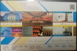 L) 2015 ARGENTINA, CONCERT ROOM THE BLUE WHAL, CULTURAL CENTER, KIRCHENER,  ARCHITECTURE, SOUVENIR SHEET, MNH - Unused Stamps