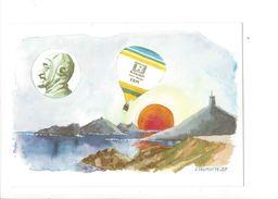 18047 -  100me Anniversaire De La Traversée Continent-Corse Par Capazza Et Fondere Pilotes Carail,Issanjou J. Delmotte - Montgolfières